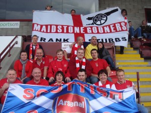 Maidstone & Scottish Gooners in Stenny's Main Stand