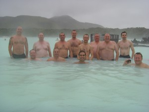 The water might have been hot in the Blue Lagoon but the air was mighty chilly!