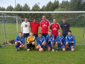 The tired looking team line-ups after our credible 5-3 away defeat!